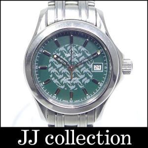 OMEGA レディース腕時計 シーマスター120m ジャックマイヨール 1998年限定 2500本限定 グリーン文字盤 クオーツ|jjcollection2008