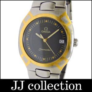OMEGA オメガ ボーイズ腕時計 ポラリス SS×GP クオーツ グレー文字盤|jjcollection2008