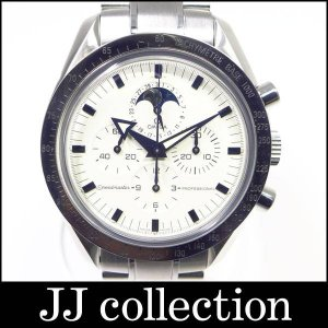 スピードマスタームーンフェイズ 3575.20 手巻き SS/K18WG ホワイトゴールドベゼル ホワイト文字盤 メンズ腕時計|jjcollection2008