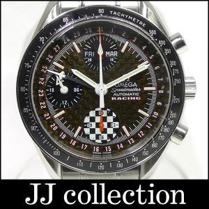 OMEGA スピードマスター レーシング シューマッハ クロノグラフ Ref.3529.50 カーボンブラック文字盤 メンズ腕時計中古|jjcollection2008