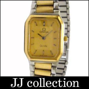 OMEGA オメガ レディース腕時計 デビル SS×GP クオーツ ゴールド文字盤|jjcollection2008