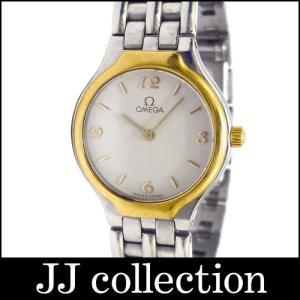OMEGA オメガ レディース腕時計 DeVille(デビル)SS×GP クオーツ ホワイト系 文字盤|jjcollection2008
