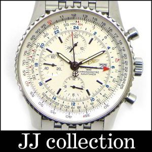 ナビタイマー ワールド クロノグラフ A24322 SS 自動巻き ホワイト文字盤 jjcollection2008