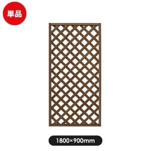 フェンス ラティス レシナg ウッドプララティス 1800×900 ウォルナット|jjprohome1