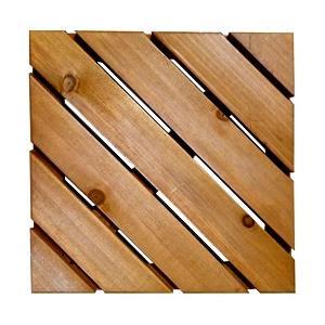 木製 ウッドタイル300斜10枚セット(aks-01958)|ウッドデッキ|ベランダリフォーム|jjprohome1
