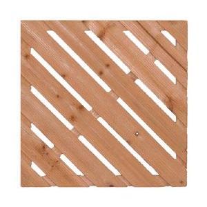 リブ付ウッドタイル450斜 溝付き ウッドデッキ ベランダ リフォーム ベランダリフォーム タイル ウッドタイル 木製|jjprohome1