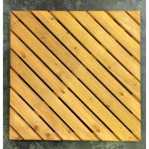 木製デッキパネル 着色デッキパネル 600斜 (12枚セット) (aks-01972set)|jjprohome1