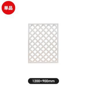 フェンス ラティス レシナg ウッドプララティス 1200×900mm ホワイト|jjprohome1