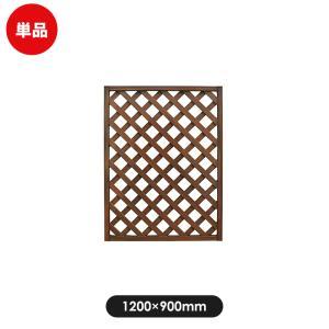 フェンス ラティス レシナg ウッドプララティス 1200×900mm ウォルナット|jjprohome1