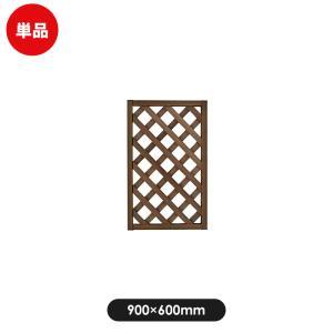 フェンス ラティス レシナg ウッドプララティス 900×600mm ウォルナット|jjprohome1
