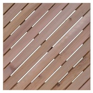 木製デッキパネル レッドシダーウッドタイル 450斜 (aks-27408)|jjprohome1
