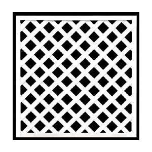 フェンス ラティス ホワイト格子ラティス900×900mm|jjprohome1
