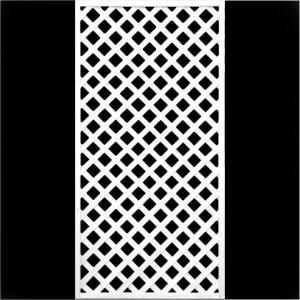 フェンス ラティス ホワイト格子ラティス1800×900mm|jjprohome1