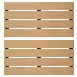 人工木スノコ900(2枚セット) ベージュ-44344|jjprohome1