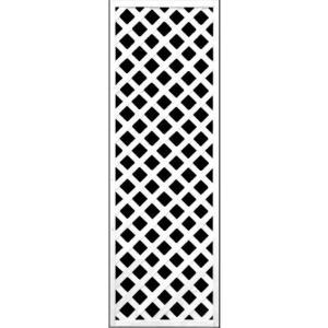 フェンス ラティス 訳ありホワイト格子ラティス1800×600mm|jjprohome1