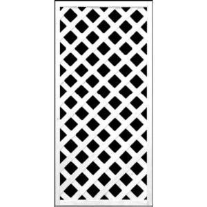 フェンス ラティス 訳ありホワイト格子ラティス1200×600mm|jjprohome1