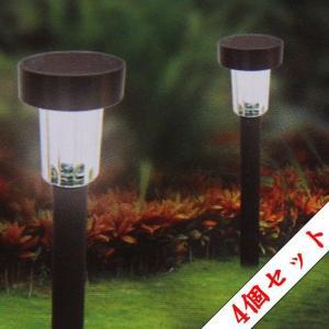 ソーラーガーデンライト <56プラスチック 4個入り>|LED|ガーデニング|-66124|jjprohome1