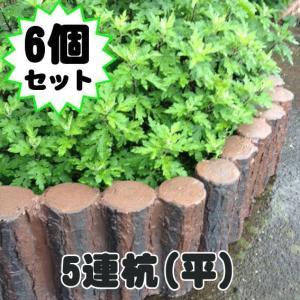 連杭5本 平型 (FRP素材)  6個セット  杭 ガーデニング 花壇 