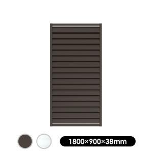 フェンス アルミルーバーラティス 1890 ブラウン/シルバー 1800×900mm|jjprohome1