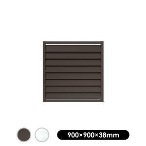 フェンス アルミルーバーラティス 9090 ブラウン/シルバー900×900mm|jjprohome1