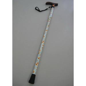 【代引不可】【全国送料無料】ワンステップ折り畳み杖(ステッキ) 花柄 水色  シルバー 介護  jjprohome1