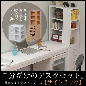 薄型ワイドデスクシリーズ デスクサイドすき間ラック【代引き不可】|jjprohome1