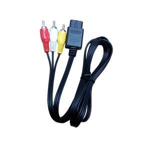 ステレオオーディオビジュアルケーブル 長さ:約175cm 接続方法はテレビのAV端子(赤・白・黄)と...