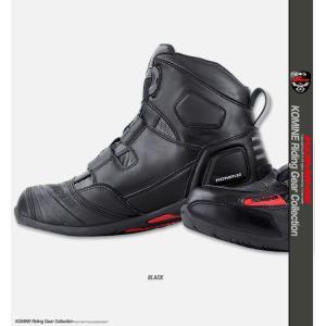 コミネ BK-077 ウォータープルーフプロテクトBoaライディングシューズ (トゥースライダー無し)  防水ブーツ KOMINE|jline|03