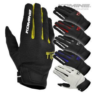 【ゆうパケット対応】コミネ GK-168 ライドメッシュグローブ-アレシア KOMINE 06-168 Ride M-Gloves-ALESIA スマホ対応グローブ|jline