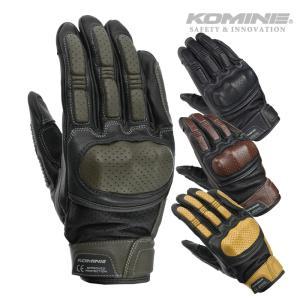 コミネ GK-217 CEプロテクトレザーグローブ 3シーズンバイクグローブ KOMINE 06-2...
