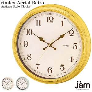 rimrex Aerial Retro デザイナーズ  電波時計 壁掛け時計 掛け時計 子供部屋 デザイン性豊かなオシャレ壁掛け時計|jmc