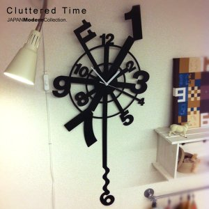 掛け時計 おしゃれ Cluttered Time|jmc