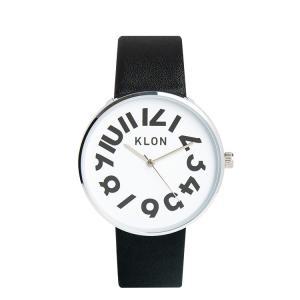 腕時計 メンズ レディース ギフト ウォッチ KLON HIDE TIME BLACK