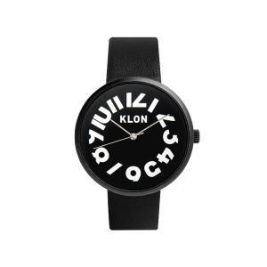 腕時計 メンズ レディース ギフト ウォッチ KLON HIDE TIME BLACK FRAME