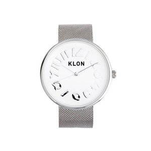 腕時計 メンズ レディース ギフト ウォッチ KLON HIDE TIME SILVER MESH ...