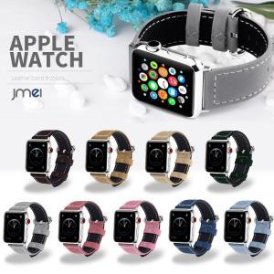 Apple Watch バンド Series 4 44mm 40mm 38mm 42mm 本革 レザー genuine leather バンド Series 1 2 3 4 対応 メンズ おしゃれ アップルウォッチ jmei
