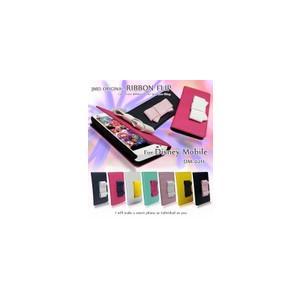 Disney Mobile on docomo DM-02H ケース リボン 手帳型ケース 手帳 スマホケース 全機種対応 ディズニーモバイル カバー|jmei