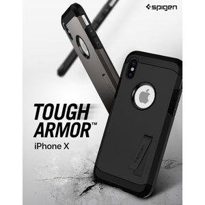 iPhone XS Spigen Tough Armor 米軍 ガラスフィルムプレゼント 耐衝撃 i...