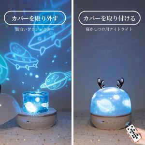 プラネタリウム 家庭用 プロジェクター 宇宙惑星 遊園地 海洋 星空 ストラップ付き 寝室 子供部屋 360度回転 8種類点灯モード USB給電 天井 壁 星空 ライトレイ|jmei|06