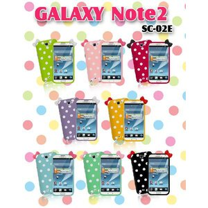 GALAXY Note2 ケース GALAXY Note カバー SC-02E リボンジェリーケース GALAXYNote2 カバー/ギャラクシー/SC02E/スマホケース/ハローキティ/tpu|jmei