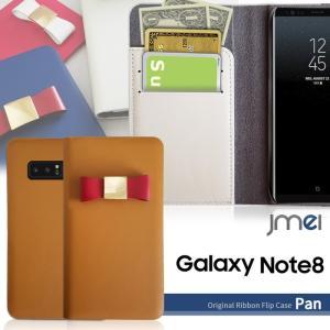 Galaxy Note8 ケース 本革 SC-01K SCV37 手帳型 スマホケース リボン 手帳 スマホケース 全機種対応 samsung ギャラクシー ノート 8 手帳型ケース かわいい|jmei