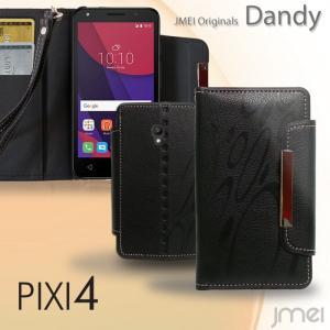 PIXI4 ケース レザー 手帳型ケース Dandy 手帳 スマホケース 全機種対応 ALCATEL One touch アルカテル ワンタッチ simフリー カバー|jmei