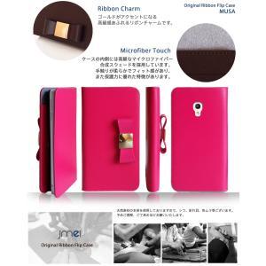PIXI4 ケース 本革 リボン 手帳型ケース MUSA 手帳 スマホケース 全機種対応 ALCATEL One touch アルカテル ワンタッチ simフリー カバー jmei 05