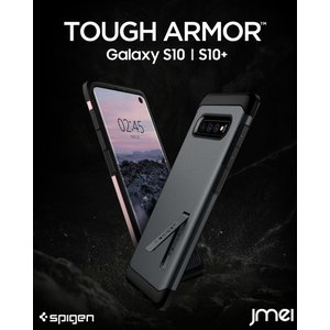 Galaxy S10 ケース シュピゲン タフアーマー 二重構造 キックスタンド 米軍MIL規格取得 耐衝撃 かっこいい ギャラクシー s10 カバー|jmei
