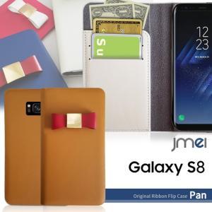 Galaxy S8 ケース リボン SC-02J SCV36 手帳型ケース サムスン 本革 手帳 スマホケース 全機種対応 samsung ギャラクシーs7 エッジ カバー|jmei