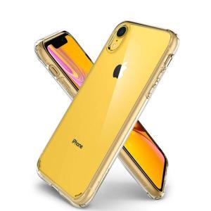 iPhone XR ケース 背面クリア シュピゲン ウルトラハイブリッド 耐衝撃 Spigen 米軍MIL規格取得 シンプル ガラスフィルム 360°保護 Ultra Hybrid tpu 衝撃吸収 jmei 11