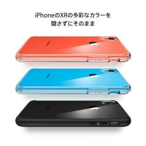 iPhone XR ケース 背面クリア シュピゲン ウルトラハイブリッド 耐衝撃 Spigen 米軍MIL規格取得 シンプル ガラスフィルム 360°保護 Ultra Hybrid tpu 衝撃吸収 jmei 06