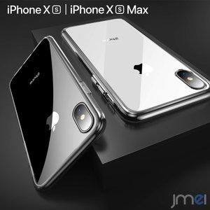 iPhone XS ケース 背面ガラス おしゃれ バンパーiPhone XS Max 指紋防止 シリコン シンプル 着脱簡単 衝撃吸収 スマホケース iphonexs カバー スマートフォン|jmei