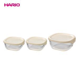 HARIO(ハリオ)耐熱ガラス製保存容器3個セット(ホワイト)KST-2012-OW|jn-online