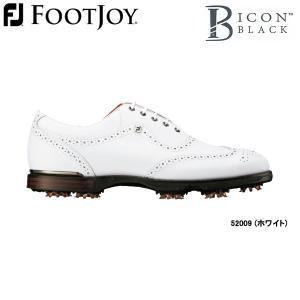 【17年モデル】フットジョイ メンズ ゴルフシューズ FJアイコン ブラック (Men's) 52009 (ホワイト) FOOTJOY 横幅(ウィズ)/W(2E) FJ ICON BLACK|jngolf2010